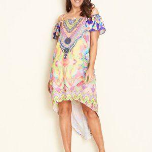 Crossroads Size 8 Calypso Cold Shoulder Maxi Dress